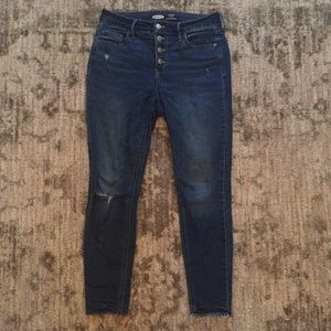 Skinny button fly jeans